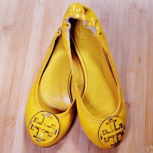 Tory Burch Lemon Yellow Flats Size 6